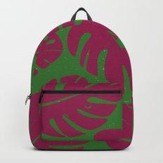 Monstera Leaf Print 4 Backpack