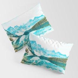 Lake reflections watercolor painting #3 Pillow Sham
