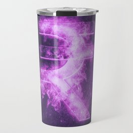 Indian Rupee sign, Indian Rupee symbol. Monetary currency symbol. Abstract night sky background. Travel Mug