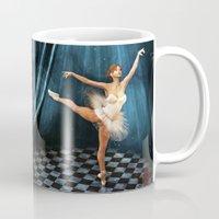 ballerina Mugs featuring ballerina by Ancello