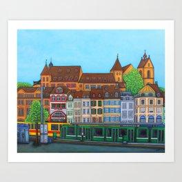 Barfüsserplatz Rendez-vous Art Print