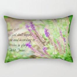 Philippians 4 My God Supply All Need Rectangular Pillow