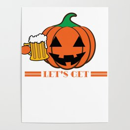 Funny & Cool Halloween Costume Tee Let s get smashed Poster