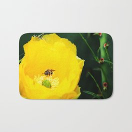 Cactus Flower, Bee and Grasshopper Bath Mat