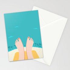 Feet on Beach Stationery Cards