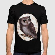 Owl Mens Fitted Tee Black MEDIUM
