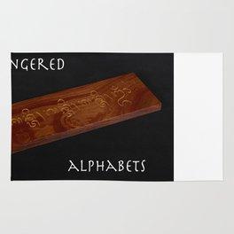 Endangered Alphabets Poster in Balinese Rug