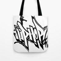 hip hop Tote Bags featuring Hip Hop by Michael Jordan