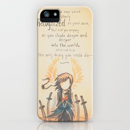 The Journey by Mary Oliver - [A Scribble] iPhone Case