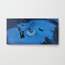 Undersea Scuba Discovery — Bathtub Drain Metal Print