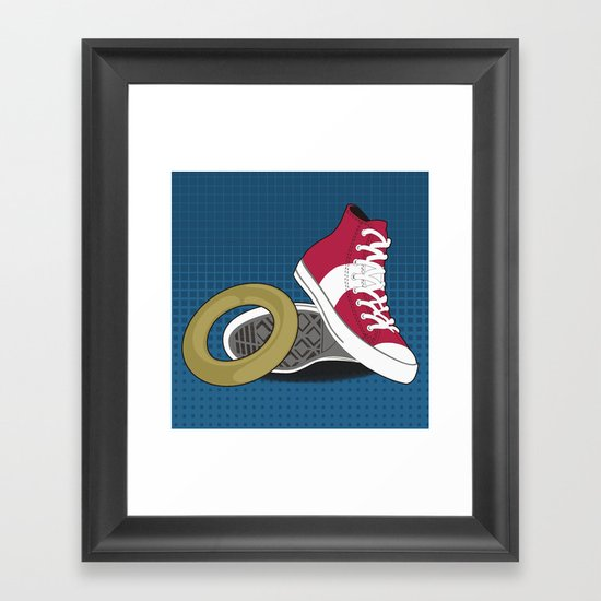 Sonic Converse - Blue Framed Art Print