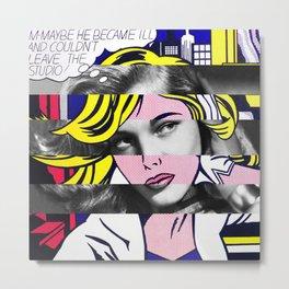 Roy Lichtenstein's M-Maybe & Lauren Bacall Metal Print