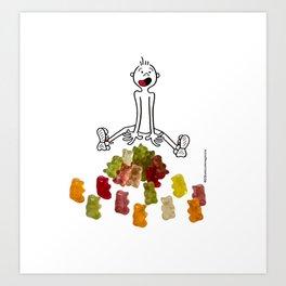 DIDI and his gummy bears Art Print