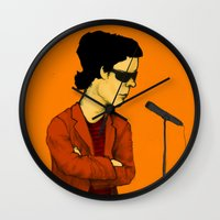 lou reed Wall Clocks featuring Lou Reed by Nick Gibney