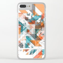 Triangles architecture: modern 2D art Clear iPhone Case