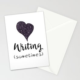 I Love Writing (Sometimes) Stationery Cards