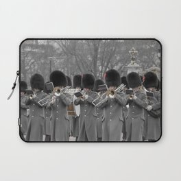The Band Marches to Buckingham Palace during the Changing of the Guard London England Laptop Sleeve