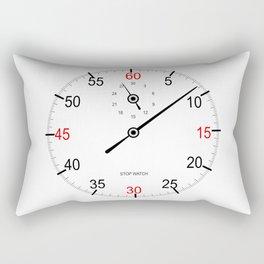 Stop Watch Face Rectangular Pillow