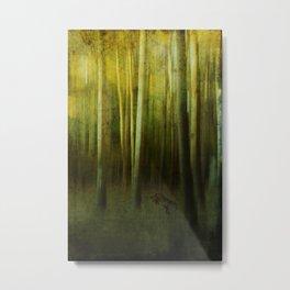 Fox In The Woods Metal Print