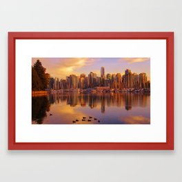 Nature in the city Framed Art Print