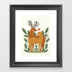 Deer Love Framed Art Print
