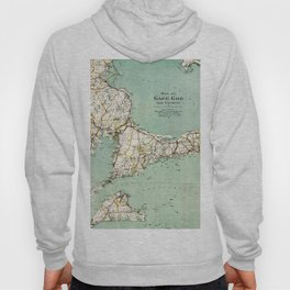Cap Cod and Vicinity Map Hoody