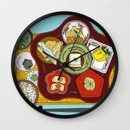 Japanese Veggie Platter Wall Clock