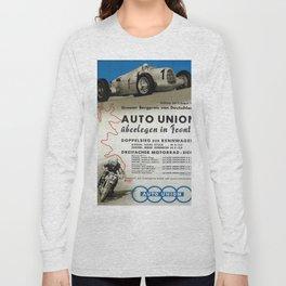 Vintage German Auto Union poster Long Sleeve T-shirt