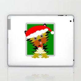 Christmas Yorkshire Terrier Cartoon Laptop & iPad Skin