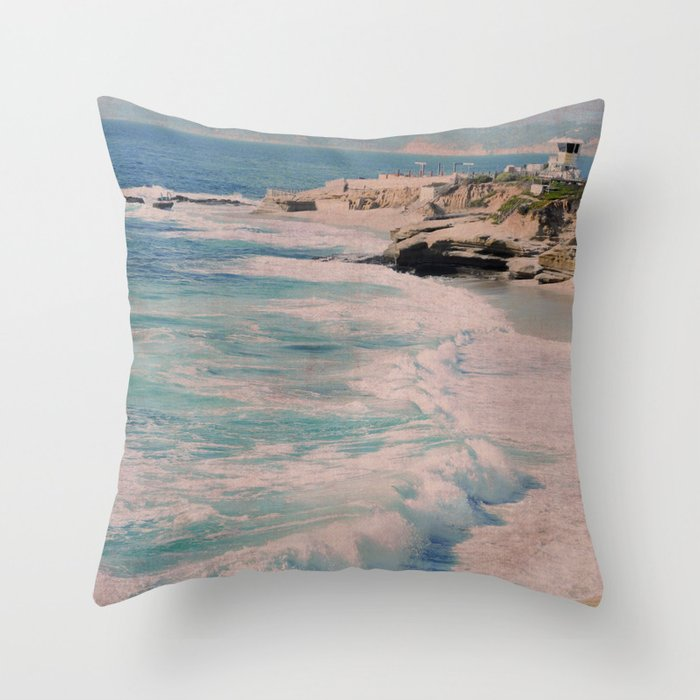 BOYS ON A ROCK Throw Pillow