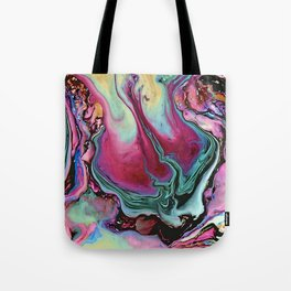 Colorful abstract marble Tote Bag