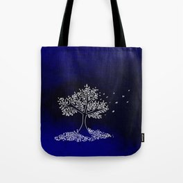Wind On a Blue Day Tote Bag