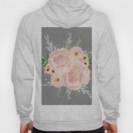 Wild Roses on Dark Gray Hoody