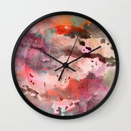 Water Color Madness Wall Clock