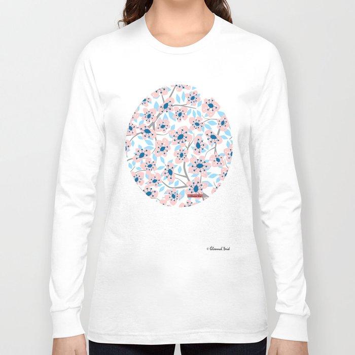 White Blossoms Long Sleeve T-shirt