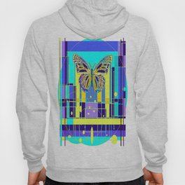 Arty Monarch Butterfly Landscape Abstract Hoody