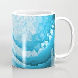 Blue & White Geode Rock Agate Slice Coffee Mug