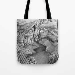 Within ancient ruins Tote Bag