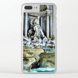 Rome, Italy - Trevi Fountain Clear iPhone Case