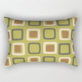 Mid Century Modern Squares Chartreuse Rectangular Pillow