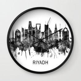 Riyadh Saudi Arabia Skyline BW Wall Clock