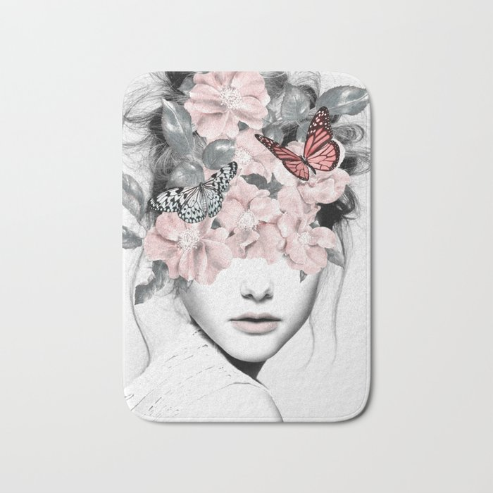 WOMAN WITH FLOWERS 10 Bath Mat