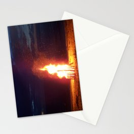 Blazing Beach Bonfire Stationery Cards