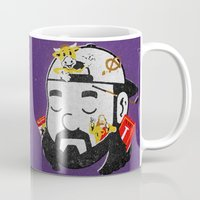 kevin russ Mugs featuring Kevin by Derek Eads