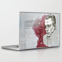 camus Laptop & iPad Skins featuring Camus - The Stranger by Nina Palumbo Illustration