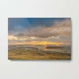Reykjavik sunset   Iceland Metal Print