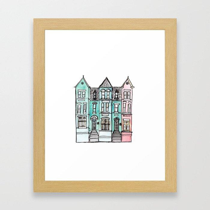 DC Row House No. 2 II U Street Framed Art Print