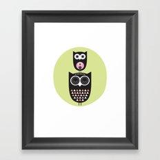 Owl nursery art Framed Art Print