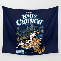 kaiju Wall Tapestries featuring Kaiju Crunch by Matt Dearden