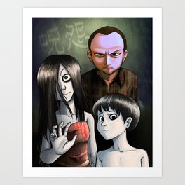 Japanese Family Portrait (呪怨) Art Print